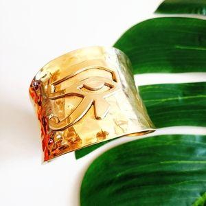 Eye of Horus Egyptian Brass Bracelet